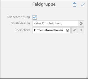 AppDesigner-Feldgruppe