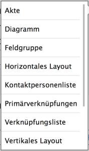 App-Designer-Feldgruppenauswahl